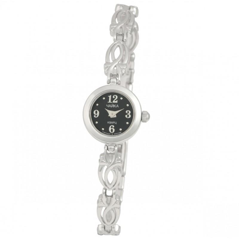 """97000-14.112 российские серебрянные женские кварцевые наручные часы Platinor """"Виктория""""  97000-14.112"""
