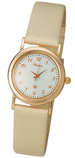 98130-2.305 Часы женские кварцевые Ритм золото 585* +вст-ка серебро 925* 98130-2.305