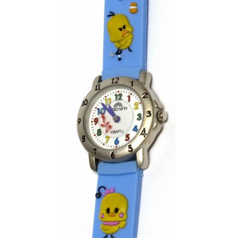 105 голубые цыплята  российские детские кварцевые наручные часы Радуга  105 голубые цыплята