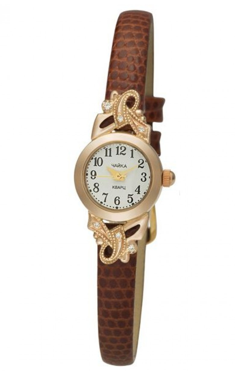 44150-156 Часы наручные жен. золото 585*  фианит