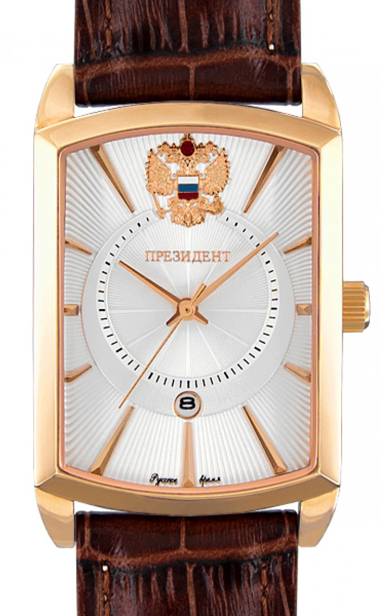 7439300 российские мужские кварцевые наручные часы Президент логотип Герб РФ  7439300