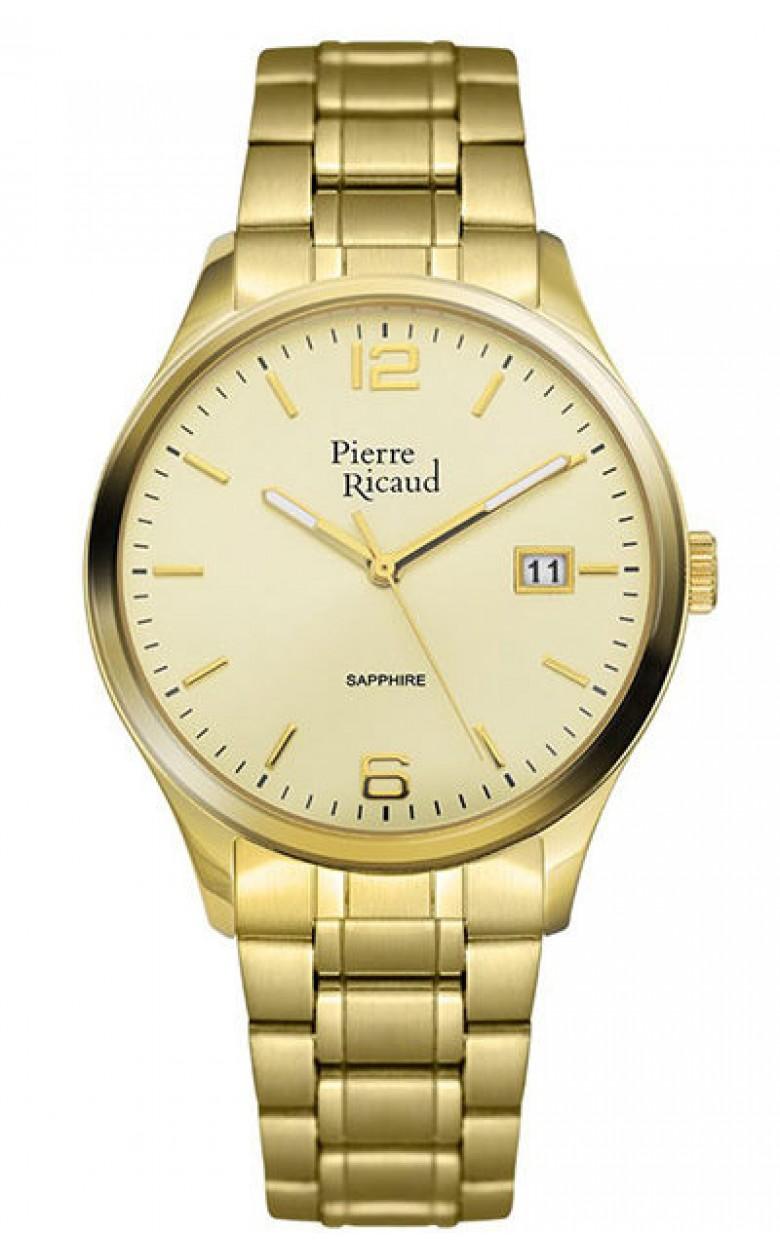 """P91086.1151Q  мужские кварцевые наручные часы Pierre Ricaud """"Bracelet"""" с сапфировым стеклом P91086.1151Q"""