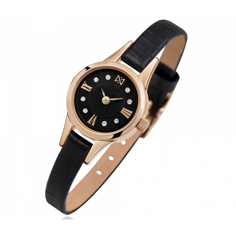 0303.0.1.53D российские золотые женские кварцевые наручные часы Ника