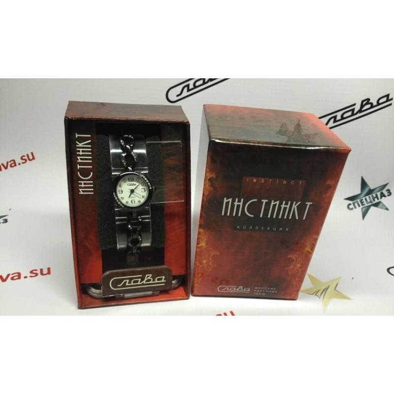 """6124137/2035  кварцевые наручные часы Слава """"Инстинкт""""  6124137/2035"""