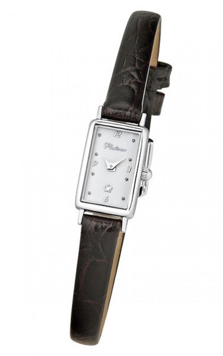 """200200.106 российские серебрянные кварцевые наручные часы Platinor """"Валерия"""" для женщин  200200.106"""