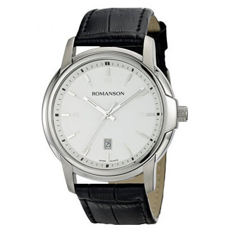 TL 2654 MW(WH)BK  кварцевые наручные часы Romanson для мужчин  TL 2654 MW(WH)BK