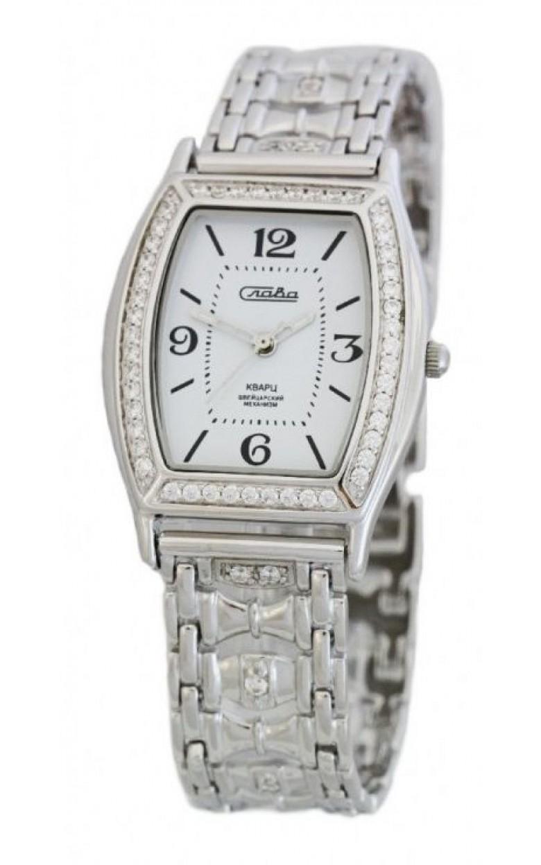 С2442009/763 российские серебрянные кварцевые наручные часы Слава