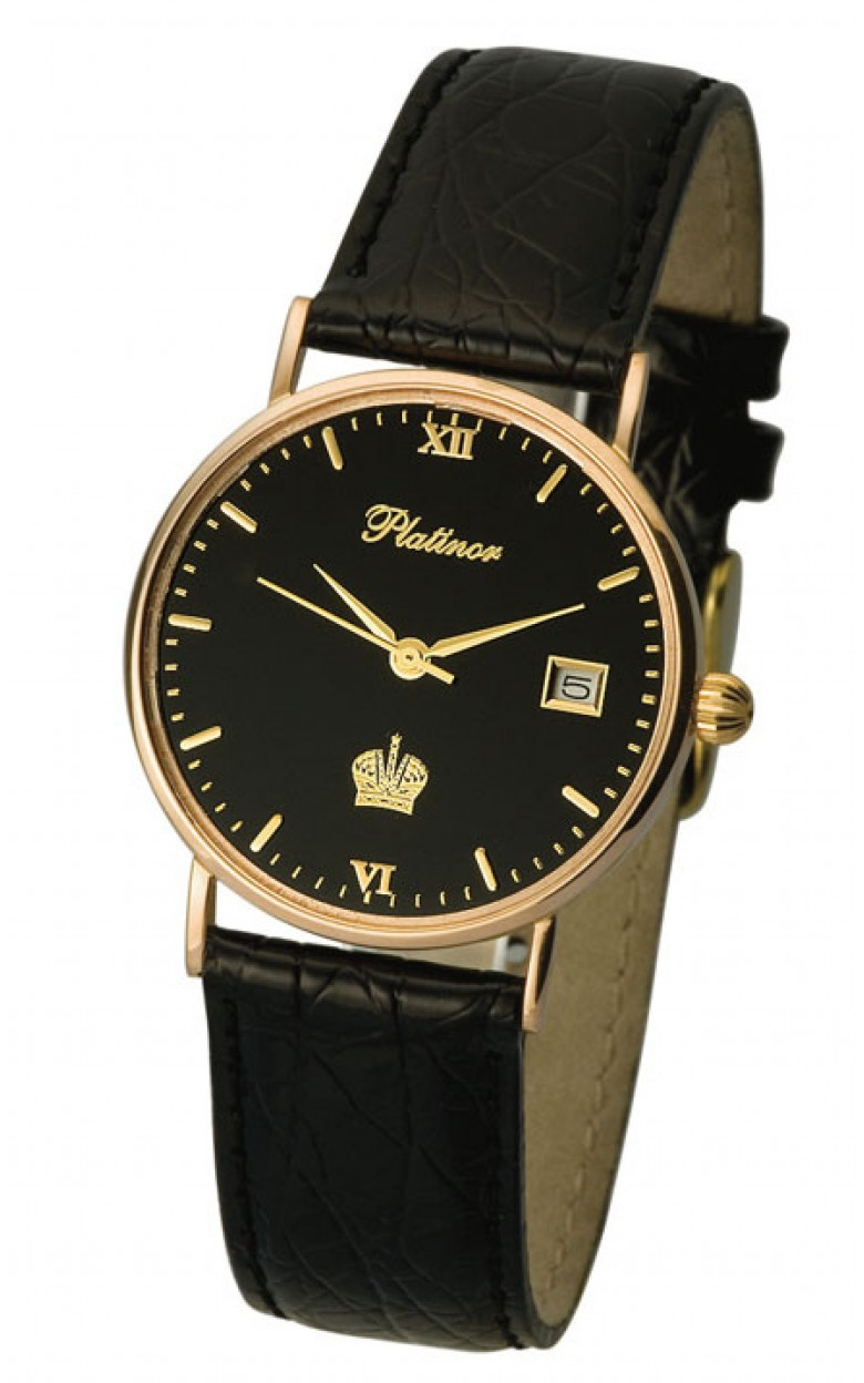 """54550.520 российские золотые кварцевые наручные часы Platinor """"Сьюзен"""" для женщин  54550.520"""