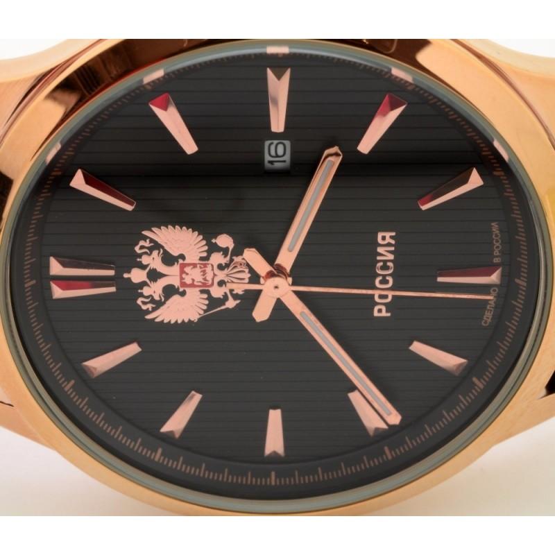 """1313576/2115-300 российские кварцевые наручные часы Слава """"Традиция"""" для мужчин логотип Герб РФ  1313576/2115-300"""