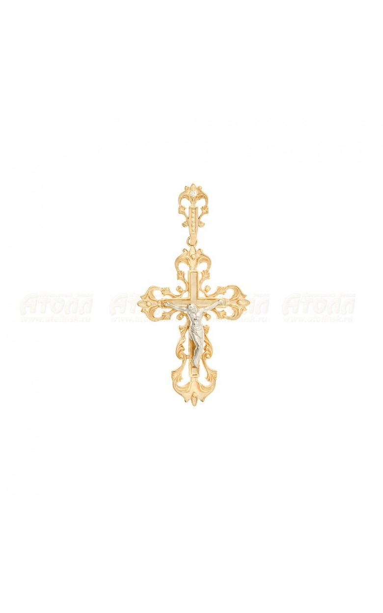 3005 серебряный крестик 925*