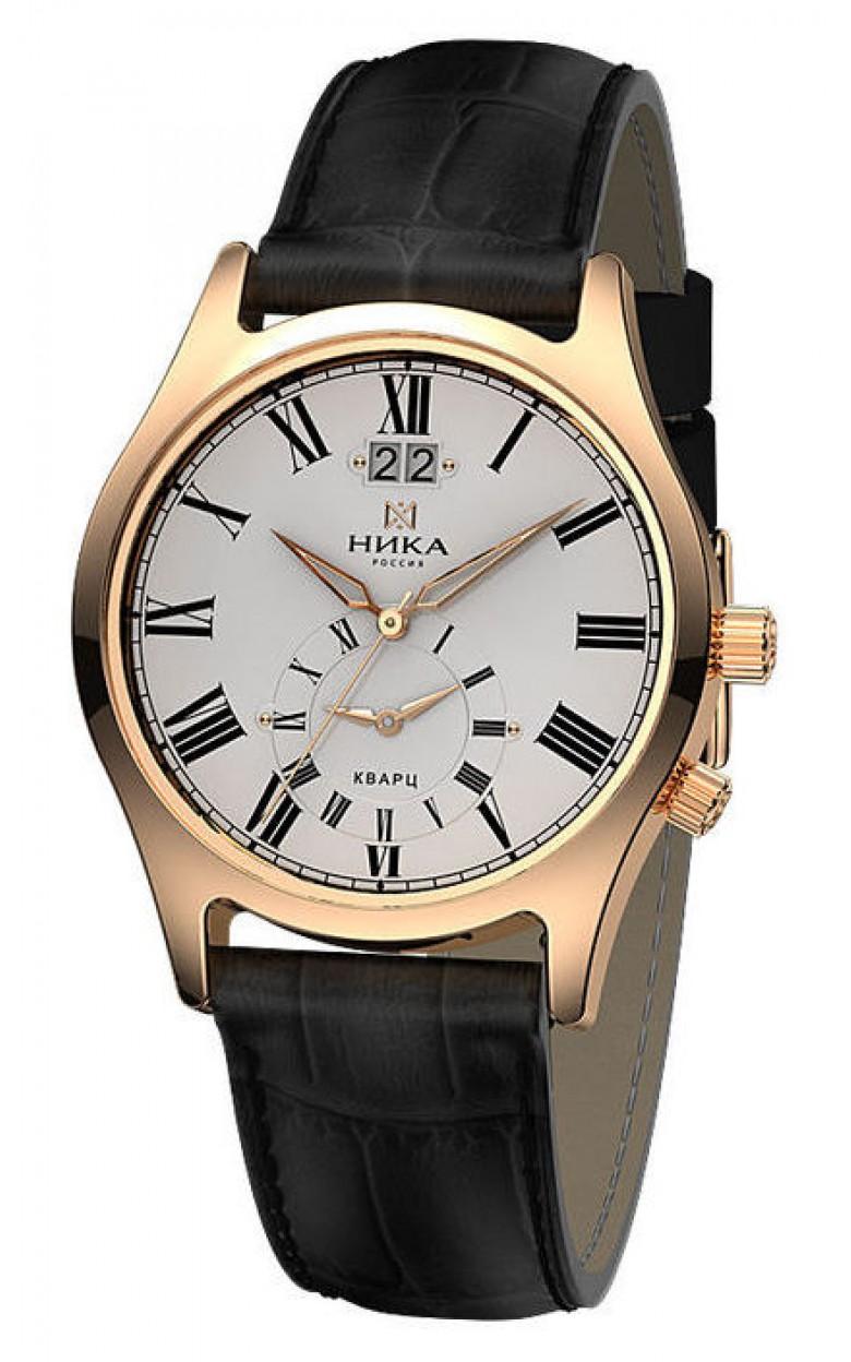 """1023.0.1.11Н российские золотые кварцевые наручные часы Ника """"Лотос"""" для мужчин  1023.0.1.11Н"""