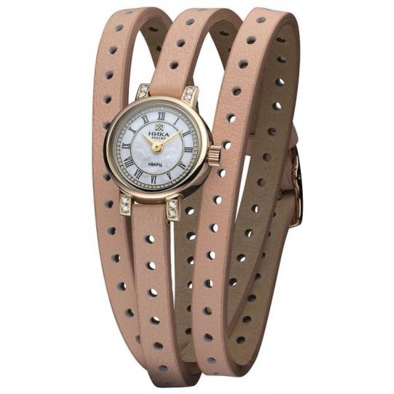 0313.2.1.12Н российские золотые женские кварцевые наручные часы Ника