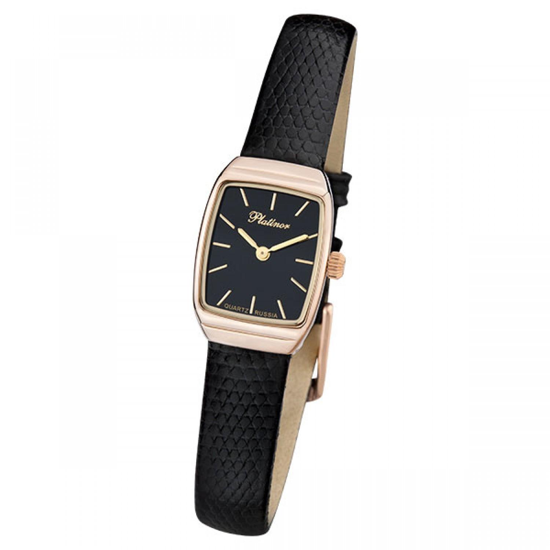 25350.103 российские золотые женские кварцевые наручные часы Platinor