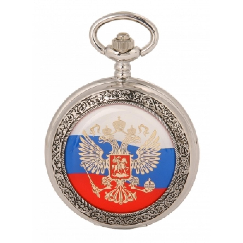 2035/9051147П российские универсальные кварцевые карманные часы Полёт-Стиль логотип Герб РФ  2035/9051147П