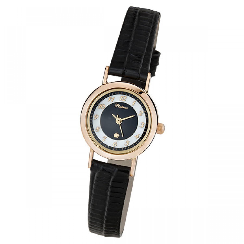 98150-2.405 российские золотые женские кварцевые наручные часы Platinor