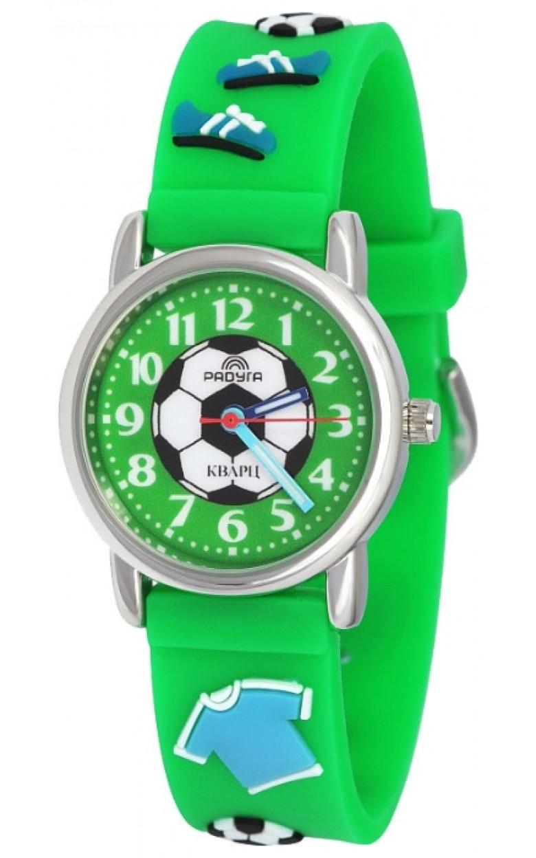 101-1 зелёный футбол российские детские кварцевые наручные часы Радуга  101-1 зелёный футбол