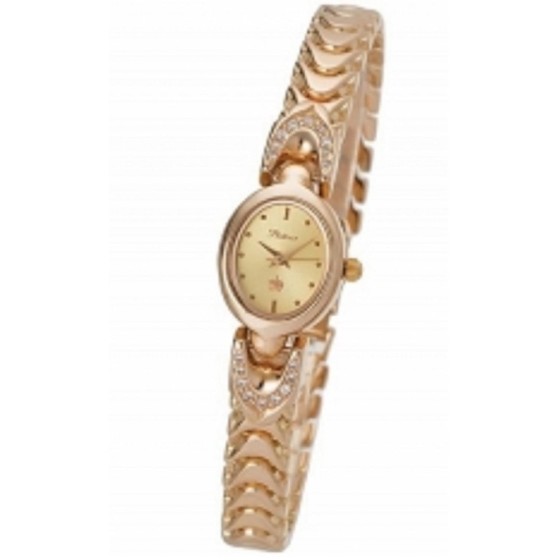 """200456А.401 российские золотые женские кварцевые часы Platinor """"Марго""""  200456А.401"""