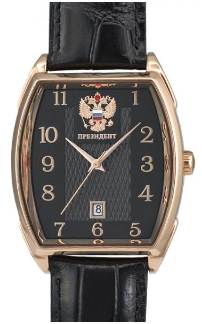 4259293/8215 российские механические наручные часы Президент для мужчин логотип Герб РФ  4259293/8215