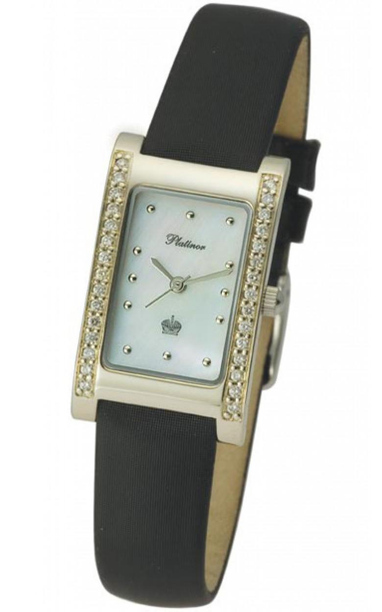 """200141 российские золотые кварцевые наручные часы Platinor """"Камилла"""" для женщин  200141"""
