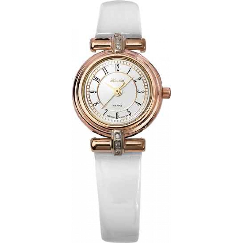 """0006.2.1.12А-7,53 российские золотые женские кварцевые наручные часы Ника """"Lady""""  0006.2.1.12А-7,53"""