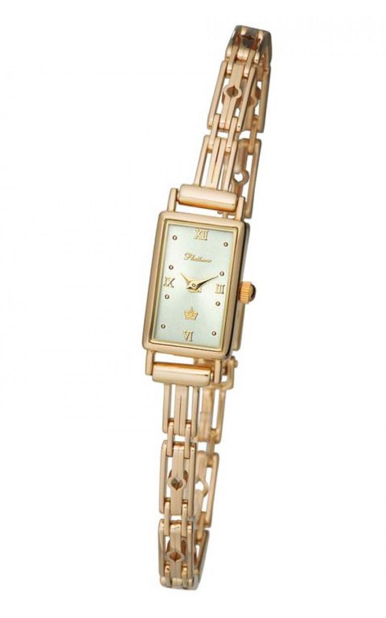 """200250.216 российские золотые женские кварцевые наручные часы Platinor """"Валерия""""  200250.216"""