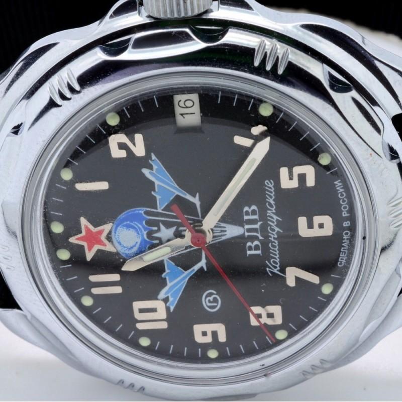"""211288  механические наручные часы Восток """"Командирские"""" логотип ВДВ  211288"""