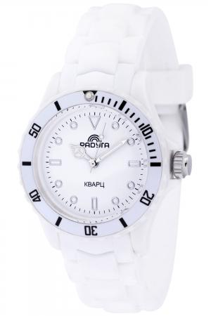 208 белые  кварцевые часы Радуга  208 белые