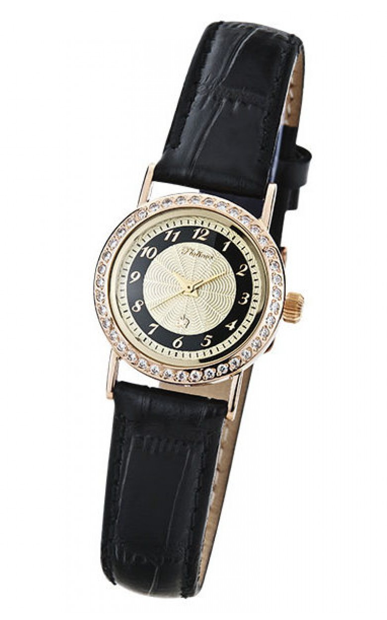 98156.408 российские золотые женские кварцевые часы Platinor