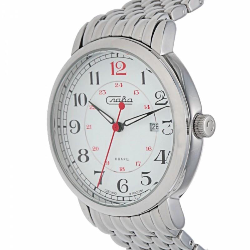 """1411701/2115-100  кварцевые наручные часы Слава """"Традиция""""  1411701/2115-100"""