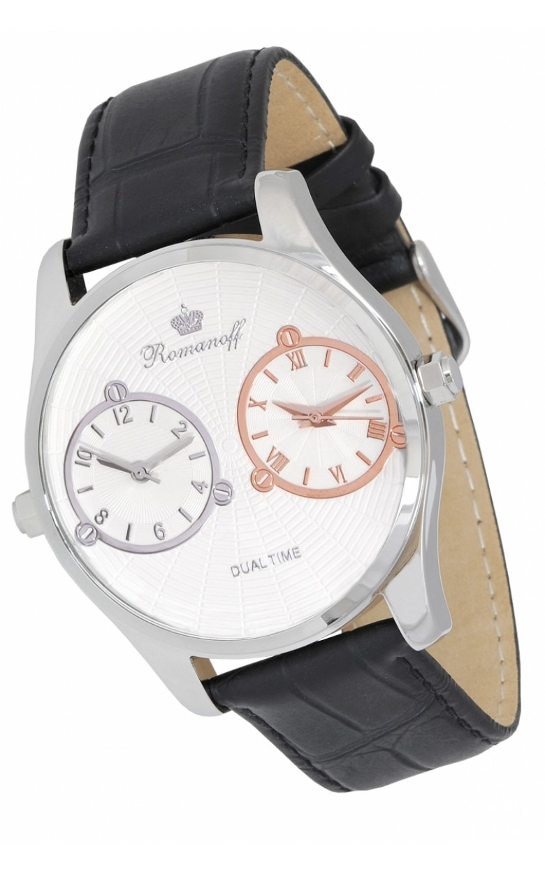 10458T/T1BL российские мужские кварцевые наручные часы Romanoff