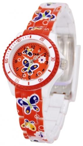 109 красные бабочки  кварцевые наручные часы Радуга  109 красные бабочки
