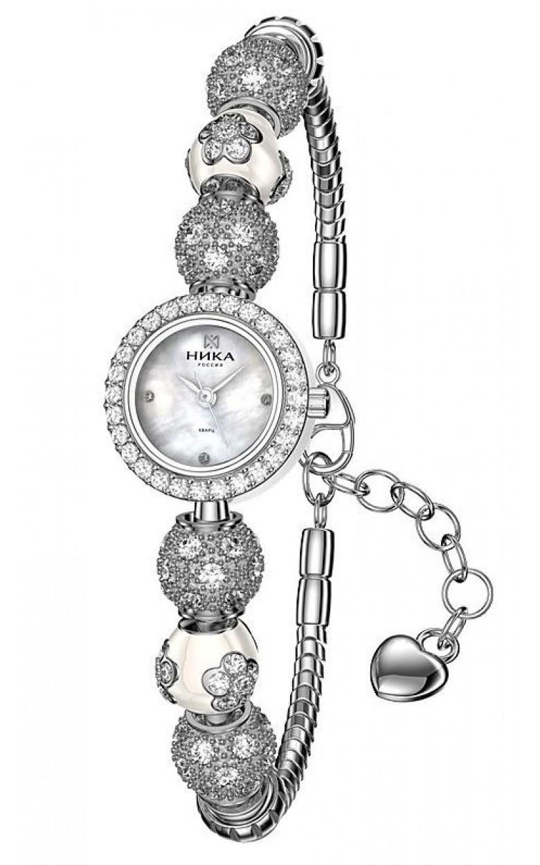 9025.2.9.W.36H-21,13 российские серебрянные кварцевые наручные часы Ника
