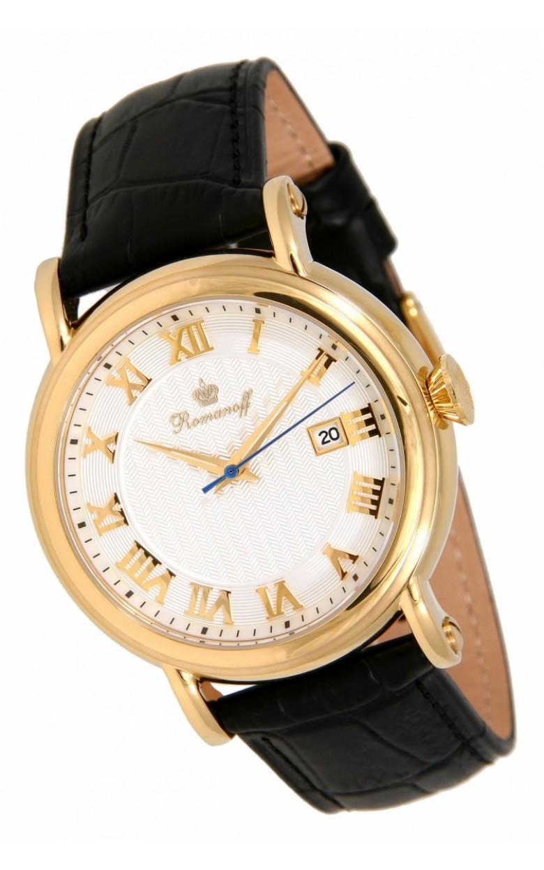3714А1BL российские мужские кварцевые наручные часы Romanoff