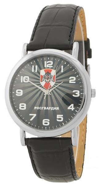 """1041773/2035  кварцевые часы Слава """"Патриот"""" логотип Росгвардия  1041773/2035"""