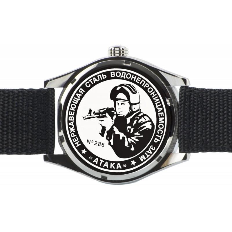 "С2861317-2115-09  кварцевые часы Спецназ ""Атака"" логотип Солдат  С2861317-2115-09"