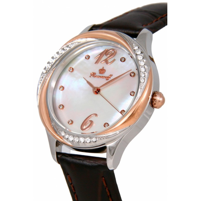 "3721T/TB1BR российские женские кварцевые часы Romanoff ""Элеганс""  3721T/TB1BR"