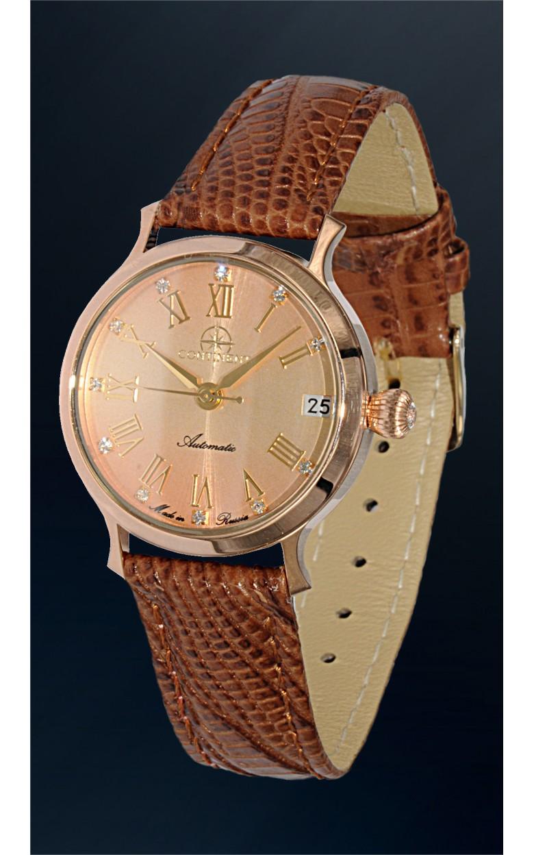 320.1.9015 российские золотые механические наручные часы Continent для женщин  320.1.9015
