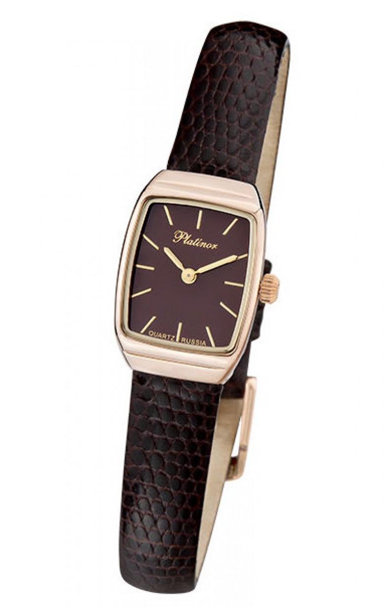 """25350.703 российские золотые женские кварцевые часы Platinor """"Эстелла""""  25350.703"""