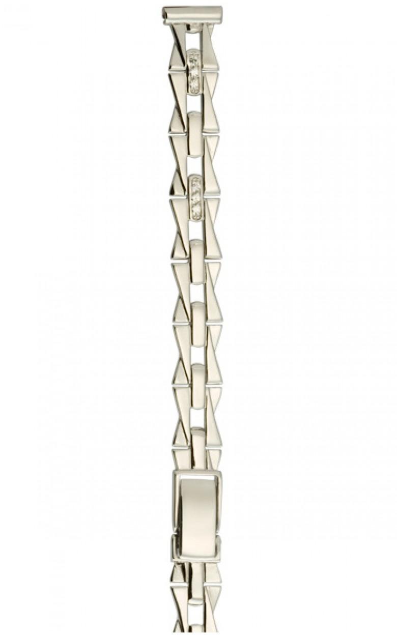 026205 Браслет женский серебро 925*, вст-ка фианит