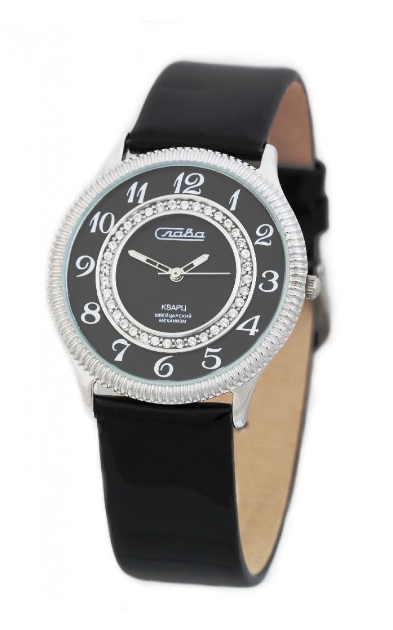 С4242045/763 российские серебрянные кварцевые наручные часы Слава