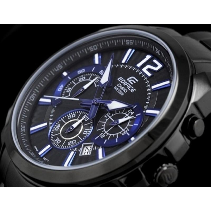 """EFR-535BK-1A2 японские мужские кварцевые часы Casio """"Edifice""""  EFR-535BK-1A2"""