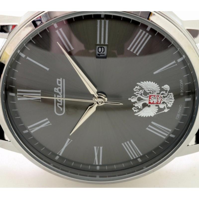 """1391742/2115-300 российские кварцевые наручные часы Слава """"Традиция"""" для мужчин  1391742/2115-300"""