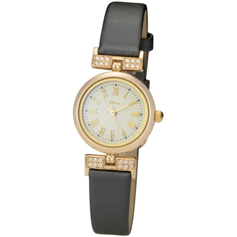 """98256.220 российские золотые кварцевые наручные часы Platinor """"Ритм"""" для мужчин  98256.220"""