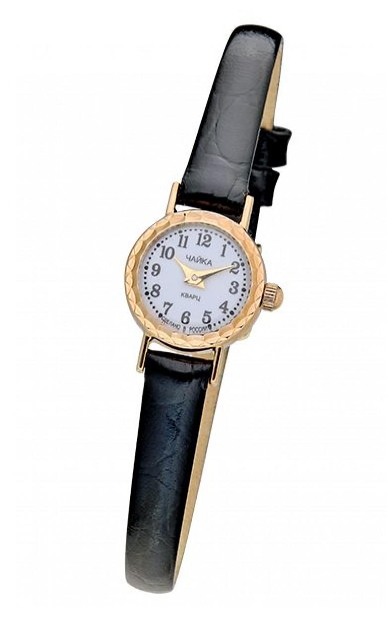 """44150.105 российские золотые кварцевые наручные часы Platinor """"Злата"""" для женщин  44150.105"""