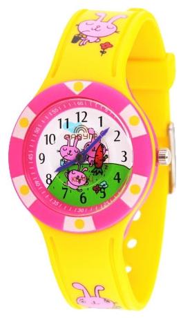 112 жел./малиновые з российские кварцевые наручные часы Радуга для детей  112 жел./малиновые з