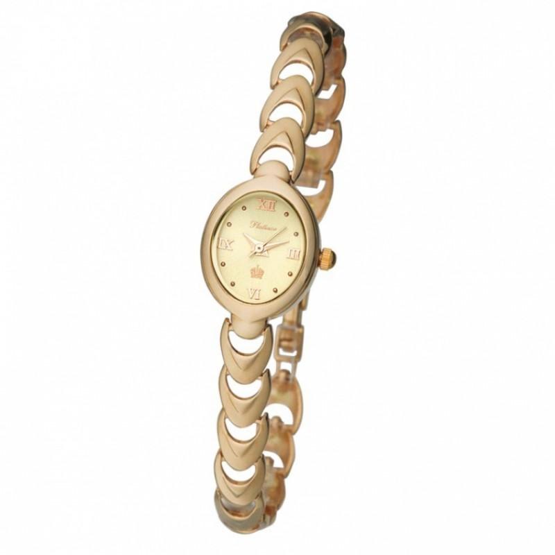 """78350.220 российские золотые женские кварцевые наручные часы Platinor """"Аманда""""  78350.220"""