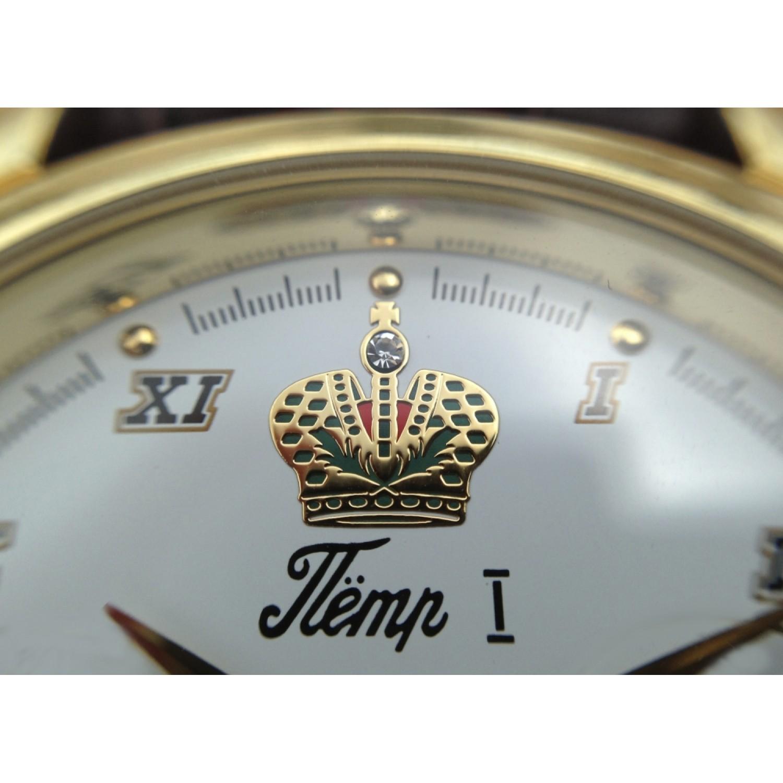"""8215/10861BLPeter1 российские мужские механические наручные часы Romanoff """"Петр 1""""  8215/10861BLPeter1"""