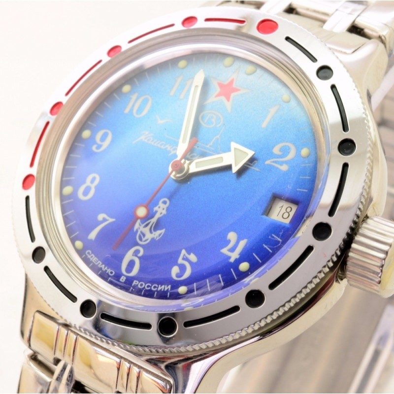 """420289 российские военные механические наручные часы Восток """"Амфибия"""" для мужчин  420289/2416"""