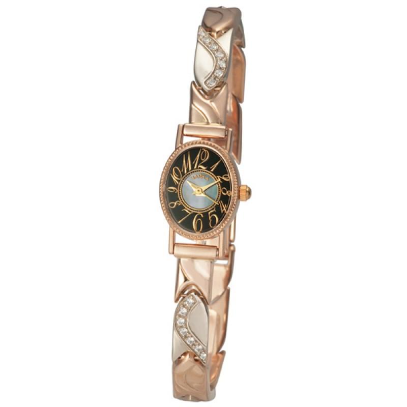 """44350-2.150 российские золотые женские кварцевые часы Platinor """"Нежность""""  44350-2.150"""