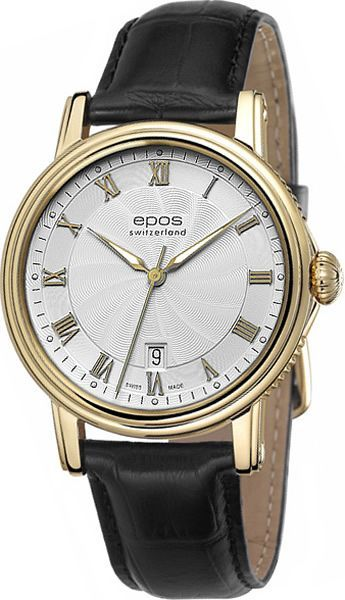 """3390.152.22.20.25 швейцарские механические наручные часы Epos """"Emotion"""" для мужчин  3390.152.22.20.25"""
